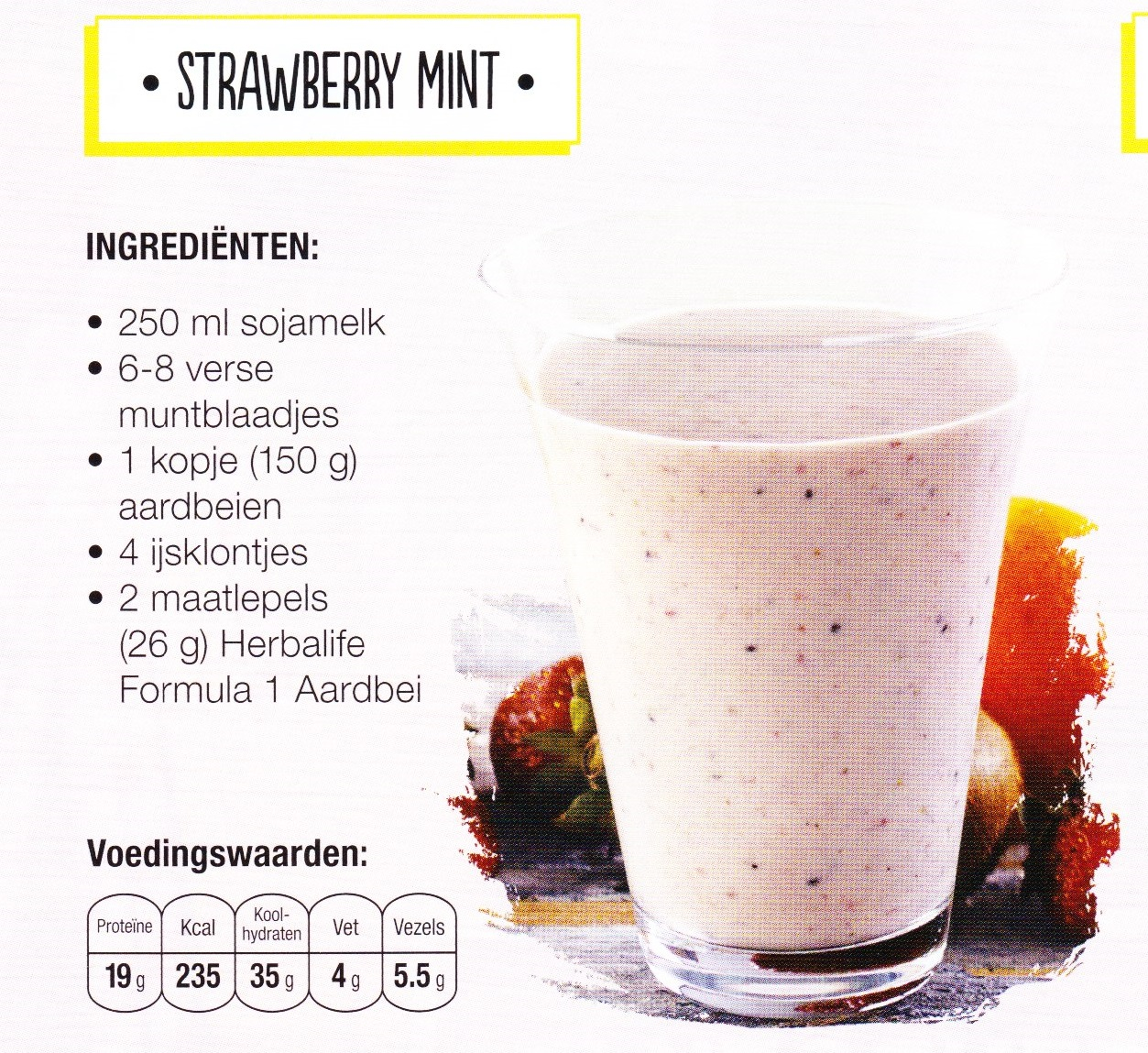 Recept Strawberry Mint